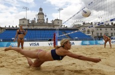 Civil servants win VIP view of beach volleyball