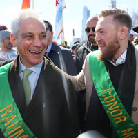 Taoiseach marches alongside Conor McGregor in Chicago's St Patrick's Day parade