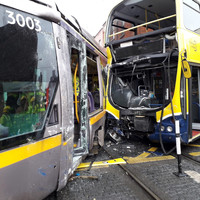 Nine people taken to hospital after collision between Luas and bus