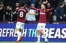 Late Hernandez double dents Huddersfield's survival hopes