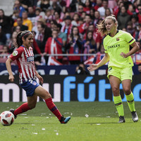 Record-breaking crowd of 60,739 watch women's match between Barcelona and Atletico