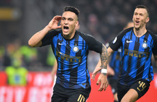 Martinez penalty proves decisive as Inter come out on top in five-goal Milan derby thriller