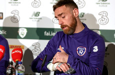 'I'd rather take a risk and crack on' - Richard Keogh to play for Ireland with a broken hand