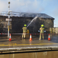 Trains not stopping at Portarlington Station due to fire in nearby building