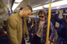 Robert Sheehan did the floss dance on a London tube and wrecked everyone's head in the process