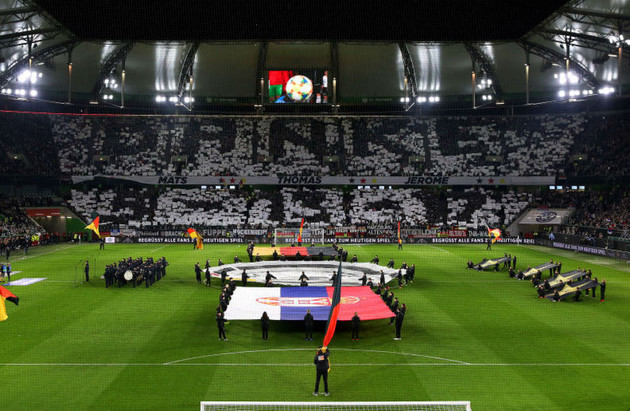 'Danke 5-13-17' - Germany fans pay tribute to axed Bayern Munich trio in Serbia draw