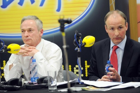 """""""Did he just say that?"""" Richard Bruton, left, mentioned a second referendum in the Today FM referendum debate this week - and then quickly retracted it."""