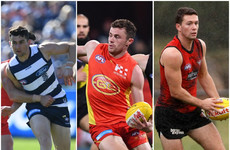 5 Irish players earn starting berths for AFL openers this weekend