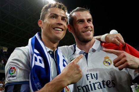 Cristiano Ronaldo with Gareth Bale at Real Madrid.