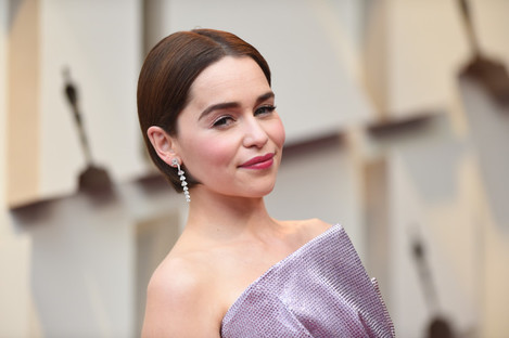 Emilia Clarke attending the Oscars last month