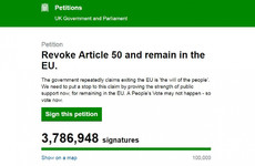 Petition to reverse Brexit swells to 3.7m signatures, as Commons states that 96% of supporters are British