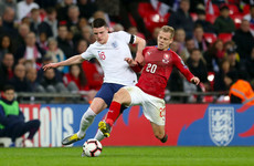 Declan Rice makes England debut as Sterling hat-trick sees off poor Czech Republic
