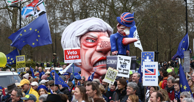 'Put it to the people': Thousands march in London calling for second Brexit referendum