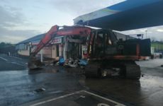 Investigation after thieves use digger to steal ATM from Fermanagh filling station