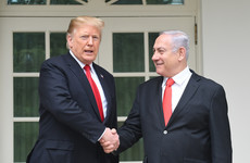 Standing alongside Netanyahu, Trump backs Israeli claims of sovereignty over disputed Golan Heights