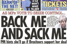 'Back me and sack me': How the British papers covered MPs 'taking control' of House