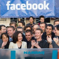 Zuckerberg rings the Nasdaq opening bell... wearing a hoodie