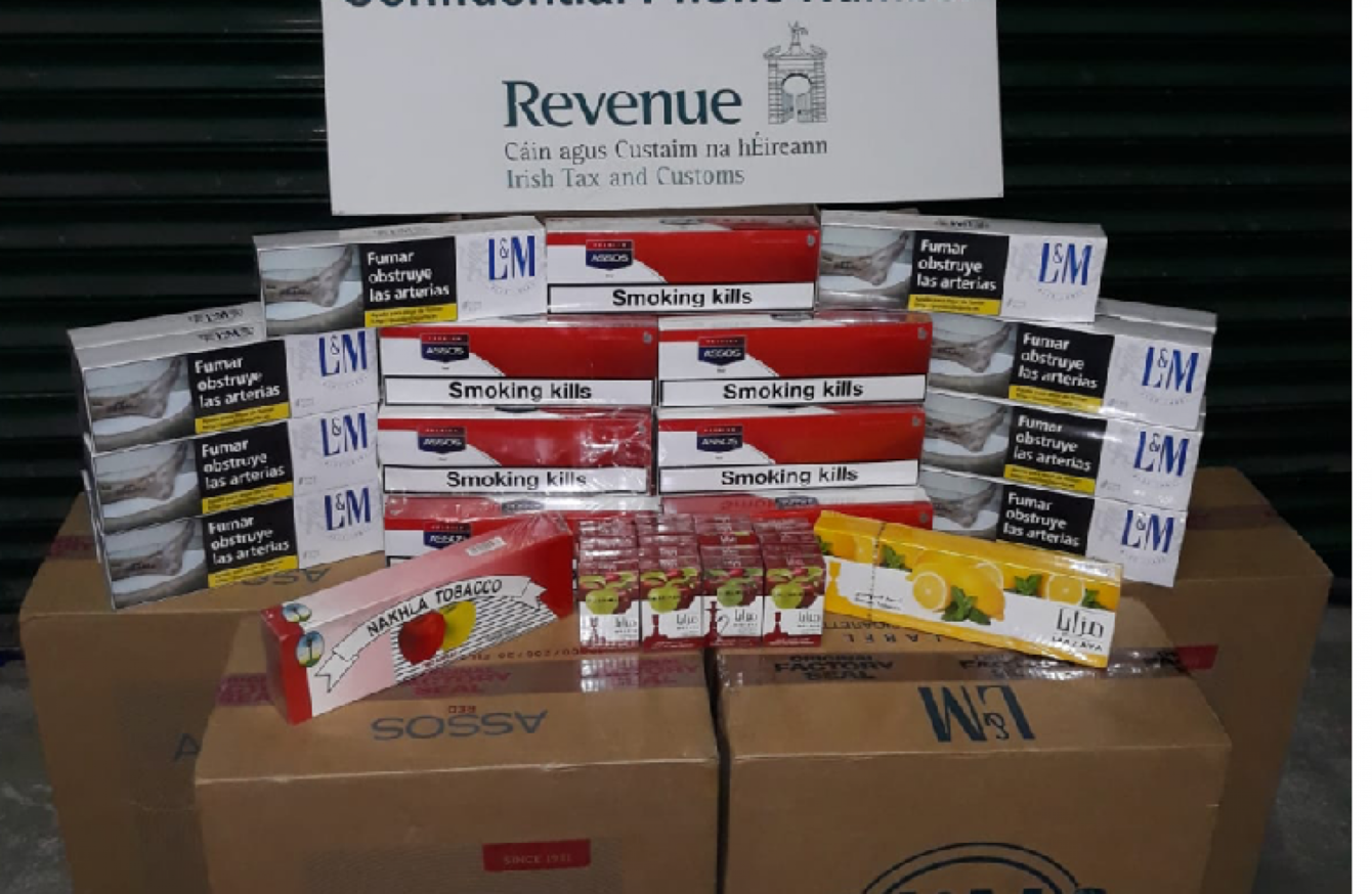 Revenue seizes €35,000 worth of cigarettes and pipe tobacco