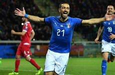 Sampdoria veteran makes history as Italy romp to victory