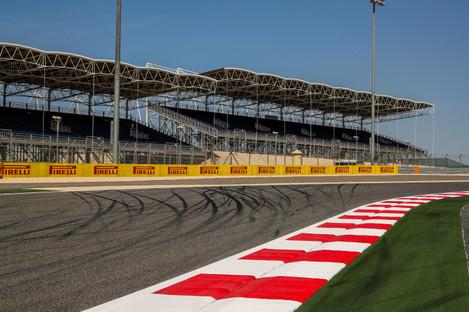 A shot of Bahrain International Circuit.