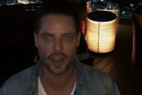 Keith Duffy posted a video message to Irish band Picture This from Bangkok.