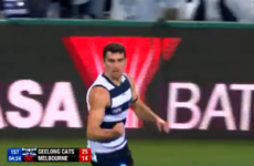 Kerry's Mark O'Connor kicks first AFL goal as Geelong take control over Melbourne