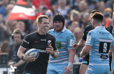 Saracens thrash Glasgow despite dad-to-be Farrell's absence
