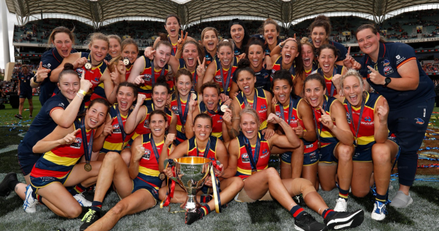 Clare's Considine helps Adelaide to emphatic AFLW Grand Final win in front of 53,000