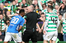 Forrest strikes late to snatch Old Firm spoils after Morelos sees red