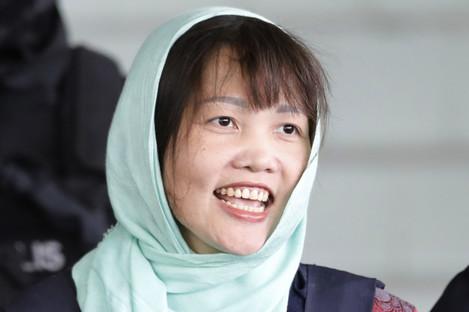 Doan Thi Huong leaving court today