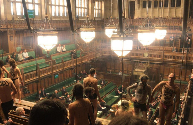 Semi-Naked Protesters Disrupt House Of Commons Brexit Debate-8011