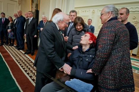 President Michael D Higgins meets Guido Nasi at Áras an Uachtaráin