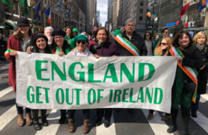 McDonald apologises for - and defends - marching behind 'England Get Out Of Ireland' banner