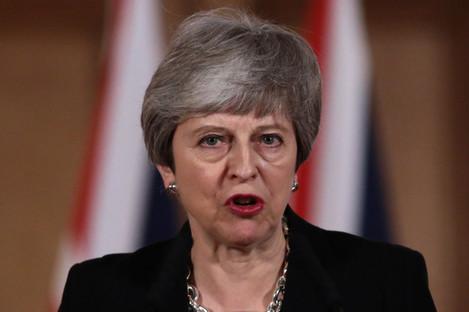 May speaking in Downing Street last night.