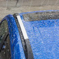 Risk of hail, sleet and snow in some areas today