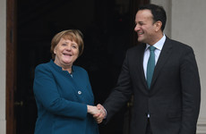 Angela Merkel says a solution to avoid a hard border must be found: 'Where there's a will, there's a way'
