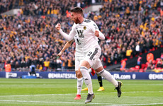 Ireland defender Matt Doherty breaks the deadlock at Wembley in FA Cup semi-final