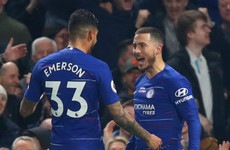 Magnificent Hazard double sends Chelsea third in the Premier League