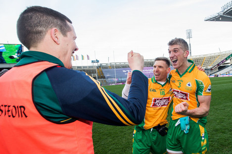 Kevin O'Brien celebrates March's All-Ireland club final victory.