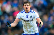 Setback for Monaghan's Ulster hopes confirmed as star midfielder ruled out