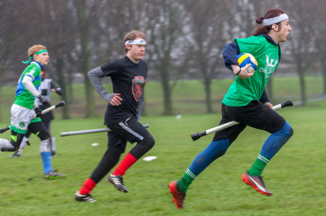 Dublin Draíocht Dragons in a game of quidditch