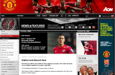 The spoof site that tricked people into thinking that Man United signed Eden Hazard
