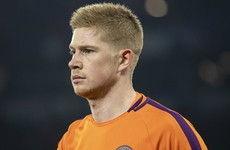 Guardiola confirms De Bruyne dropped for tactical reasons