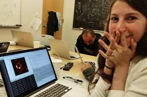 Bouman's face as the black hole image came up on her screen.
