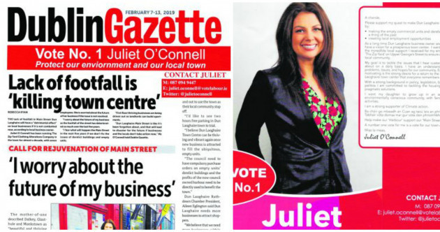 Dublin local election candidate criticised for using paper's likeness on campaign flyers