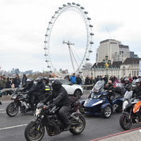 Bikers rally in solidarity with ex-British soldier to be charged with two Bloody Sunday killings
