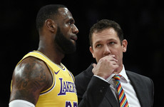 Lakers part company with head coach Luke Walton after tumultuous week
