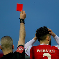 'Violent conduct in the box is a red card so we have no qualms about that'