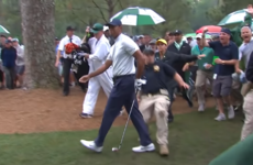 Accidents happen – Woods 'all good' after security guard trip