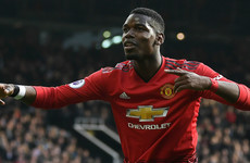 Pogba penalties help underwhelming Man United close the gap on top four
